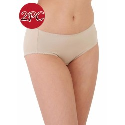 Mamaway Maternity Anti-bacterial Medium-rise Brief Panties Underwear (2pc/ pack) Nude