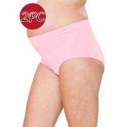 Mamaway Maternity Anti-bacterial High-rise Brief Panties Underwear (2pc/pack) Pink