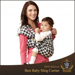 Mamaway Gingham Chunky ​Baby Ring Sling