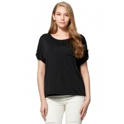 Mamaway Cooling Silky Maternity & Nursing Top (Black)