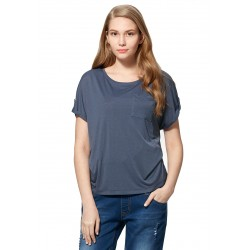 Mamaway Cooling Silky Maternity & Nursing Top (Blue)