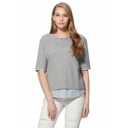 Mamaway 2 in 1 Maternity & Nursing Top - Grey