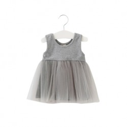 Mamma Palace Kids Tutu Dress / Soft Tulle - Grey