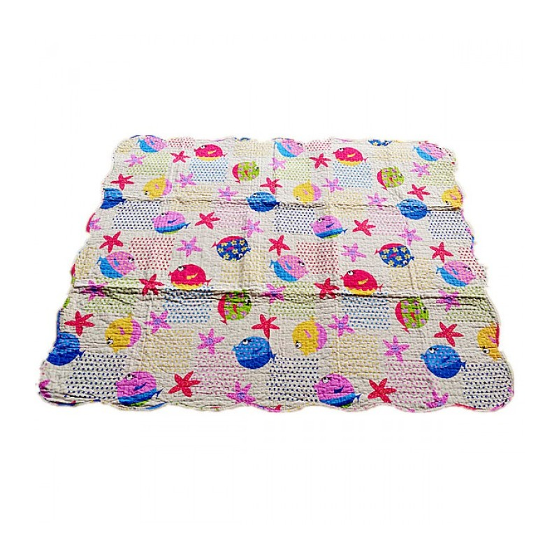 Maylee Cotton Patchwork Baby Quilted (BQ Fish) | Swaddle & Sleeping Bag