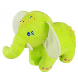 Maylee Big Colourful Plush Elephant 28cm (Green)