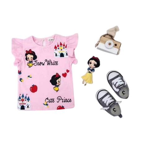 MioSunshine Snow White Pink Top