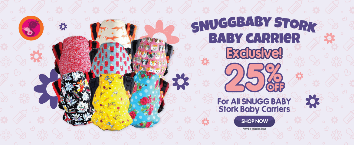 Snuggbaby Stork Baby Carrier Promotion
