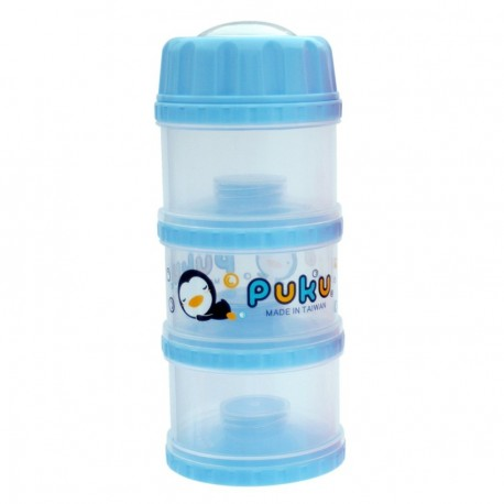 PUKU 3 Layers Independet Milk Powder Dispenser Formula Baby Infant Container Portable Box Case 100ml