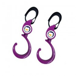 Puku Safety Hook Purple/Black Twin Pack