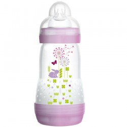 MAM Anti-Colic Baby Bottle 260ml Single Loose Pack (Purple)