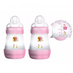MAM Anti-Colic Bottle 160ml 5oz - Twin Pack Pink (2017 New Design)