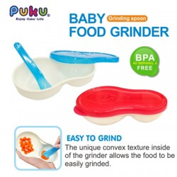 Puku Baby Grinder Bowl with Spoon (Blue)