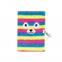 Inky Rainbows and Plush Lockable A5 Journal (Rainbow)