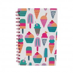 Inky Ice Cream A5 Wiro Notebook