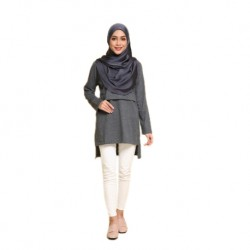 Mumsluv Madeena Nursing Tunic - Dark Grey