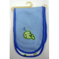 OWEN Baby Burp Cloth, 2 Piece Set - BLUE