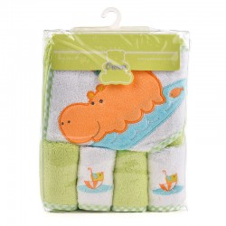 OWEN Baby Towel - 5 Piece Starter Set - GREEN