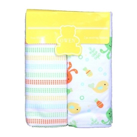OWEN Fish Receiving Blanket (2 Piece Set)