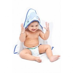 OWEN Baby Knit Hooded Towel, 2 Piece Set (BLUE)