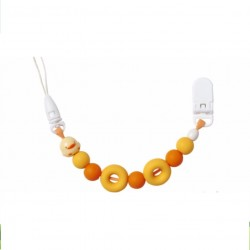 Piyo Piyo Silicon Pacifier Clip - Orange