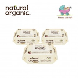 Natural Organic Baby Wipes - Premium Embossing Captype Travel Pack 30 Sheets (3 Packs)