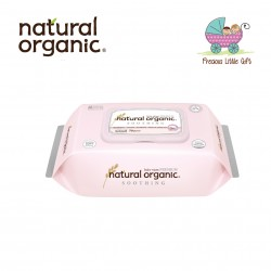 Natural Organic Baby Wipes - Soothing Premium Plain Captype (70 Sheets)