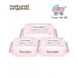 Natural Organic Baby Wipes - Soothing Premium Plain Captype 70 Sheets (3 Packs)