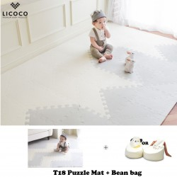 GGUMBI Licoco Smart Puzzle Playroom Mat + Beanbag