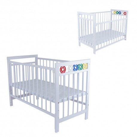 Royalcot R105 White  BabyCot Wooden