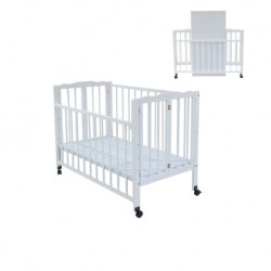 Royalcot R294 White Baby Cot Foldable Baby Cot + FREE Bedding Paul Frank