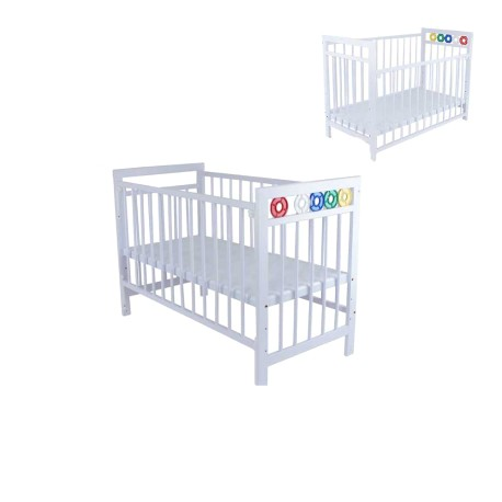 Royalcot R105 white Baby cot Wooden + FREE Baby Bedding Paul Frank