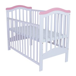 Royalcot R473 Baby Cot White-Pink