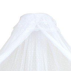 Baby Cot Mosquito Net With Clamp (White)