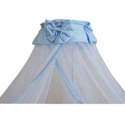 Baby Cot Mosquito Net With Clamp (Blue Butterfly Ribbon)