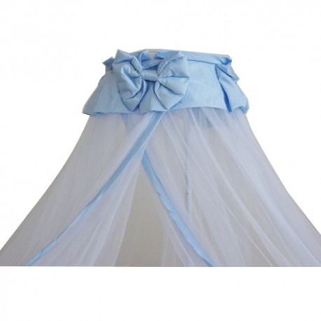 Royalcot Baby Cot Mosquito Net With Clamp (Blue Butterfly Ribbon)