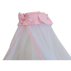 Baby Cot Mosquito Net With Clamp (Pink Butterfly Ribbon)