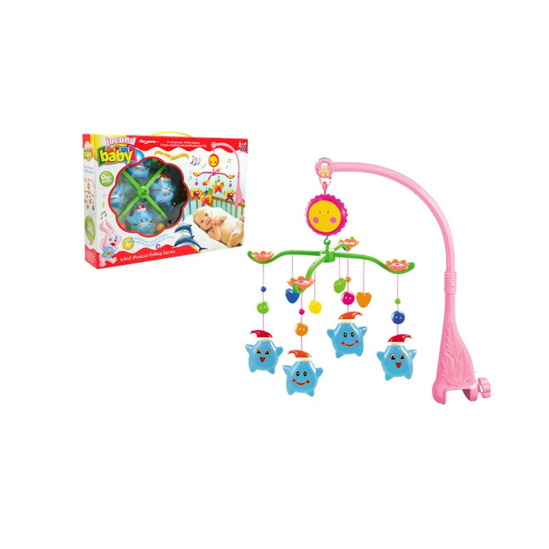 Blue Baby Toys : Baby cot musical mobile toys blue star