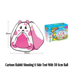 Royalcot Cartoon Rabbit Shooting 6 Side Tent With 50pcs 6cm Ball
