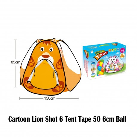 Royalcot Cartoon Lion Shot 6 Tent Tape 50pcs 6cm Ball
