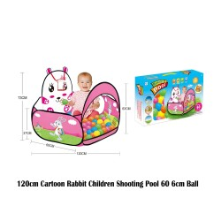 Royalcot 120cm Cartoon Rabbit Children Shoting Pool 60pcs 6cm Ball