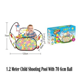 Royalcot 1.2 Meter Child Shooting Pool With 70pcs 6cm Ball