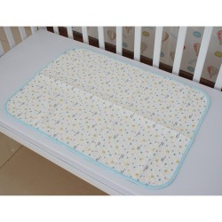 Royalcot Waterproof Cotton Mattress Protector Mat - Blue