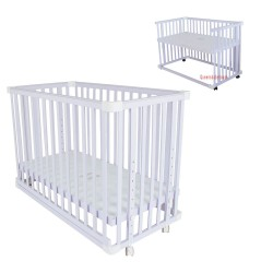 Royalcot Baby Cot R8002 White Side Bed