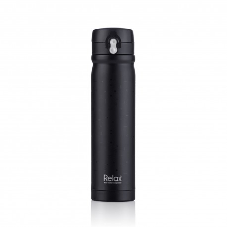 Relax Bottles 500ml 18.8 Stainless Steel Thermal Flask (Black)
