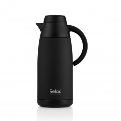 Relax Bottles 1100ml 18.8 Stainless Steel Thermal Carafe (Black)