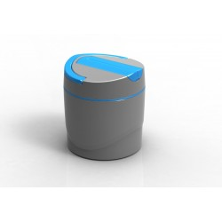 Simple Dimple Thermal Vacuum Food Container-Blue