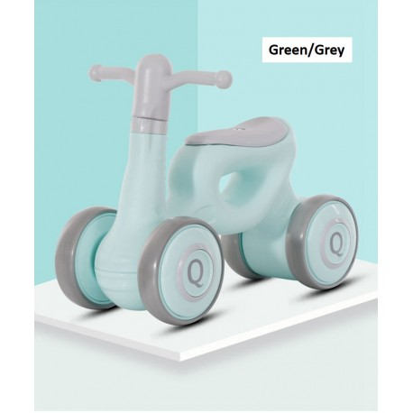 Long Dragon Q Mini Balance Bike Walker for Toddler from 1 to 3 Year old FREE 6 Months Warranty (Green/Grey)