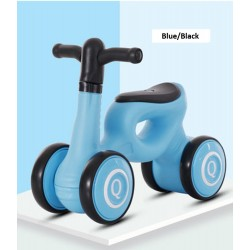 Long Dragon Q Mini Balance Bike Walker for Toddler from 1 to 3 Year old FREE 6 Months Warranty (Blue/Black)