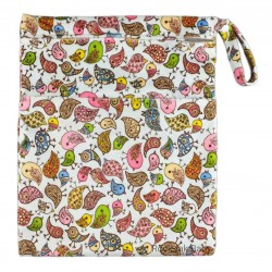 Wetbag with 2 Compartments (Minky) Birds
