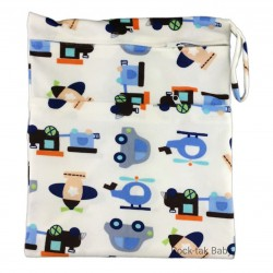 Wetbag with 2 Compartments (Minky) Transportation